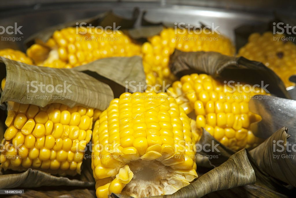 Corn on the cob stock photo