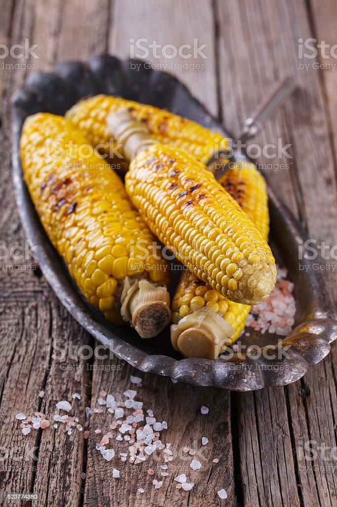 Corn on the grill stock photo
