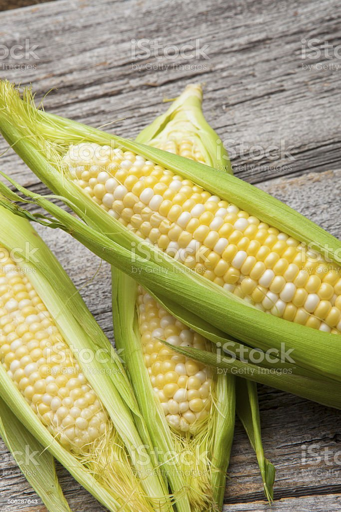 corn on wood royalty-free stock photo