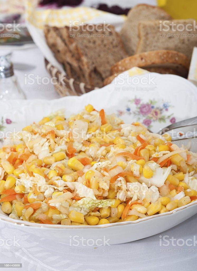 corn salad royalty-free stock photo