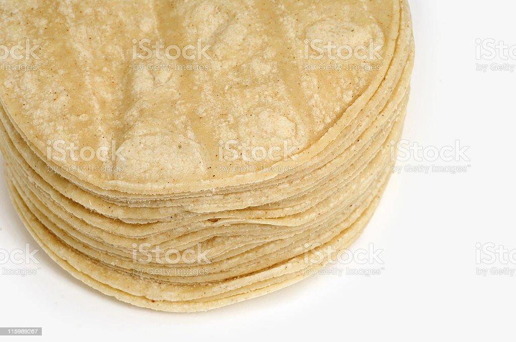 Corn Tortillas Close up stock photo