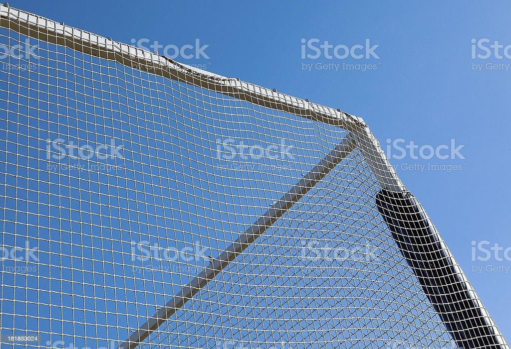 Cornar at flying net royalty-free stock photo