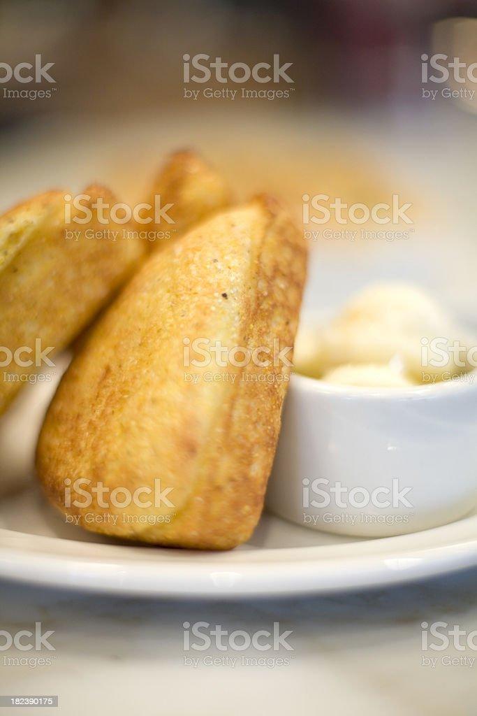 Cornbread stock photo