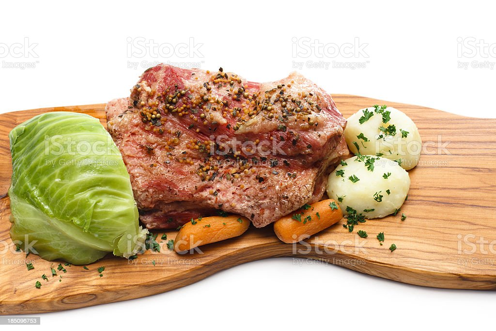 Corned Beef and Cabbage stock photo