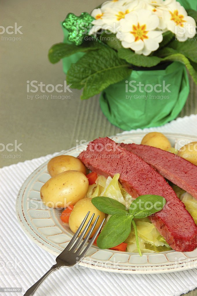 Corned Beef and Cabbage royalty-free stock photo