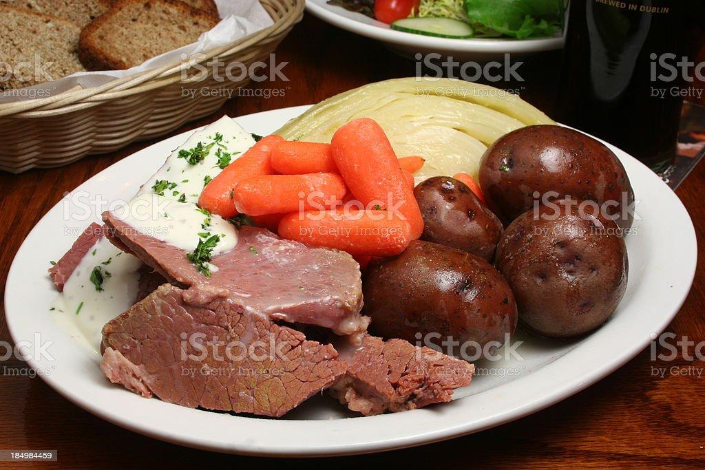 Corned Beef & Cabbage stock photo