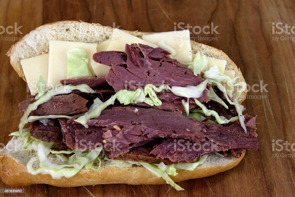 Corned Beef Deli Sandwich royalty-free stock photo