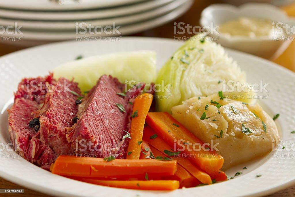 Corned Beef Dinner stock photo