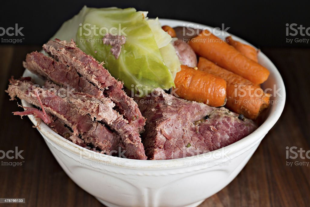 Corned Beef Dinner royalty-free stock photo