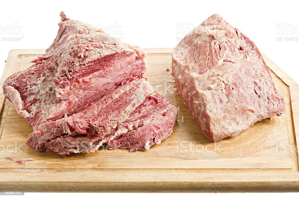 Corned Beef Fatty And Lean stock photo