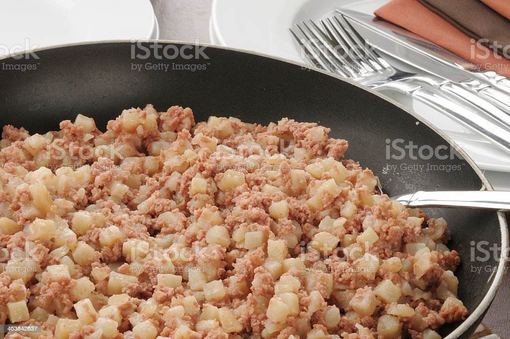 Corned beef hash royalty-free stock photo