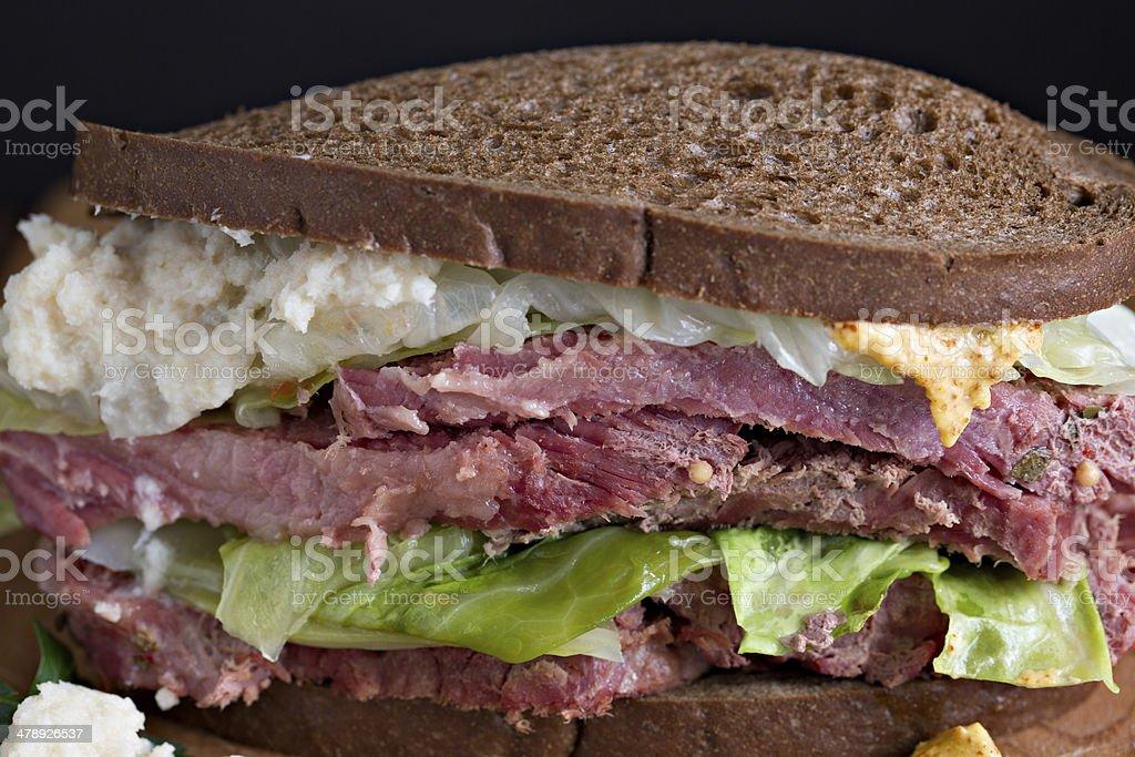 Corned Beef Sandwich On Rye royalty-free stock photo