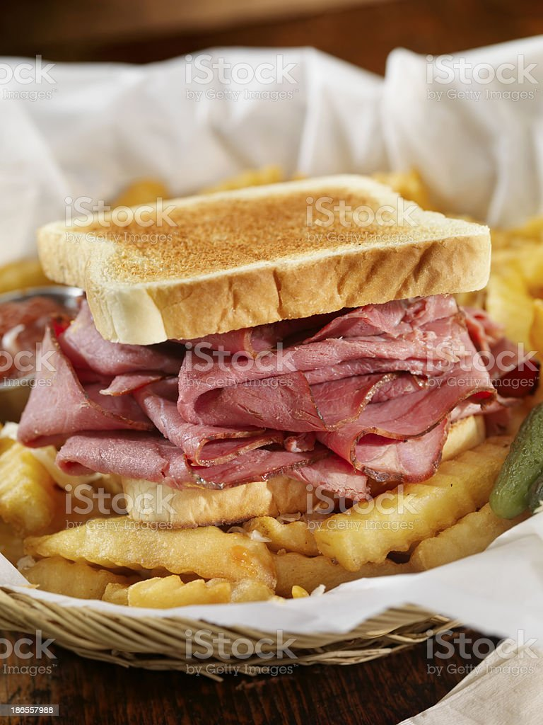 Corned Beef Sandwich stock photo