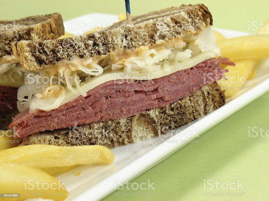 Corned Beef Sandwich royalty-free stock photo