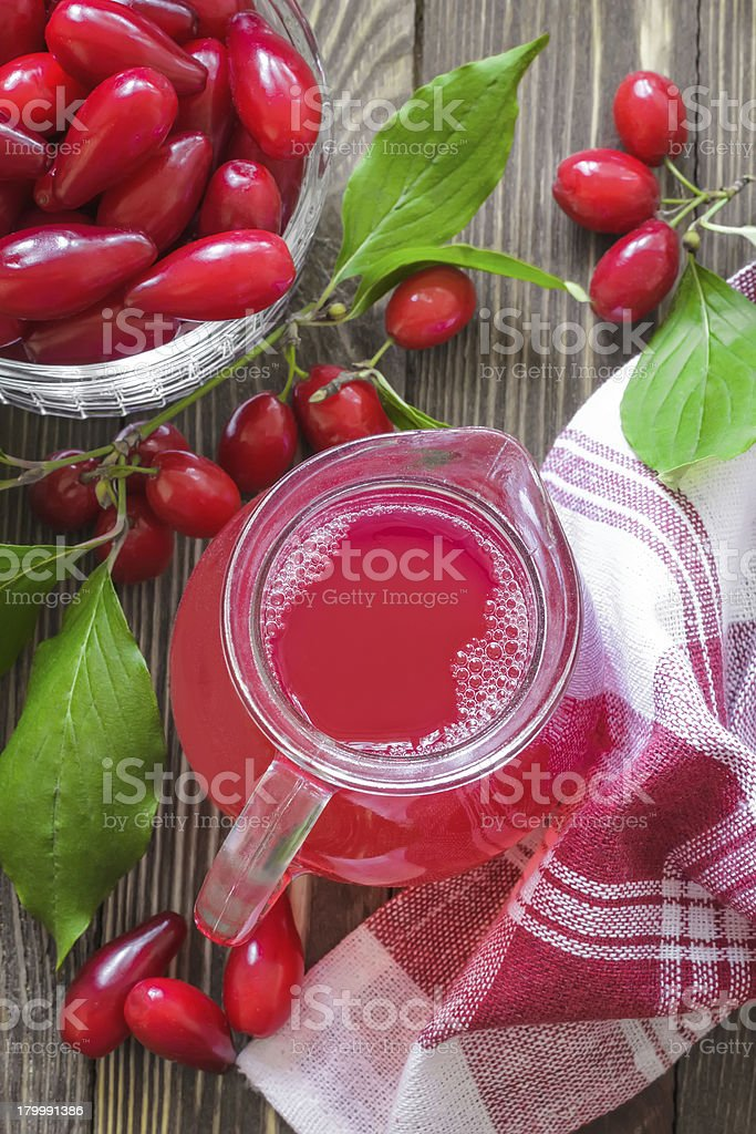 Cornel juice royalty-free stock photo
