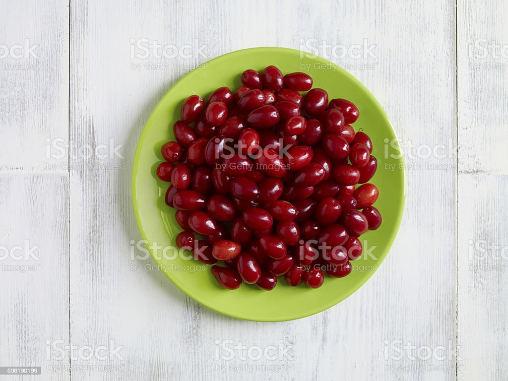 cornelian cheeries stock photo