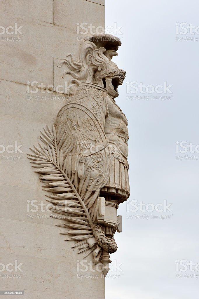 Corner Armor Statue, Rome stock photo