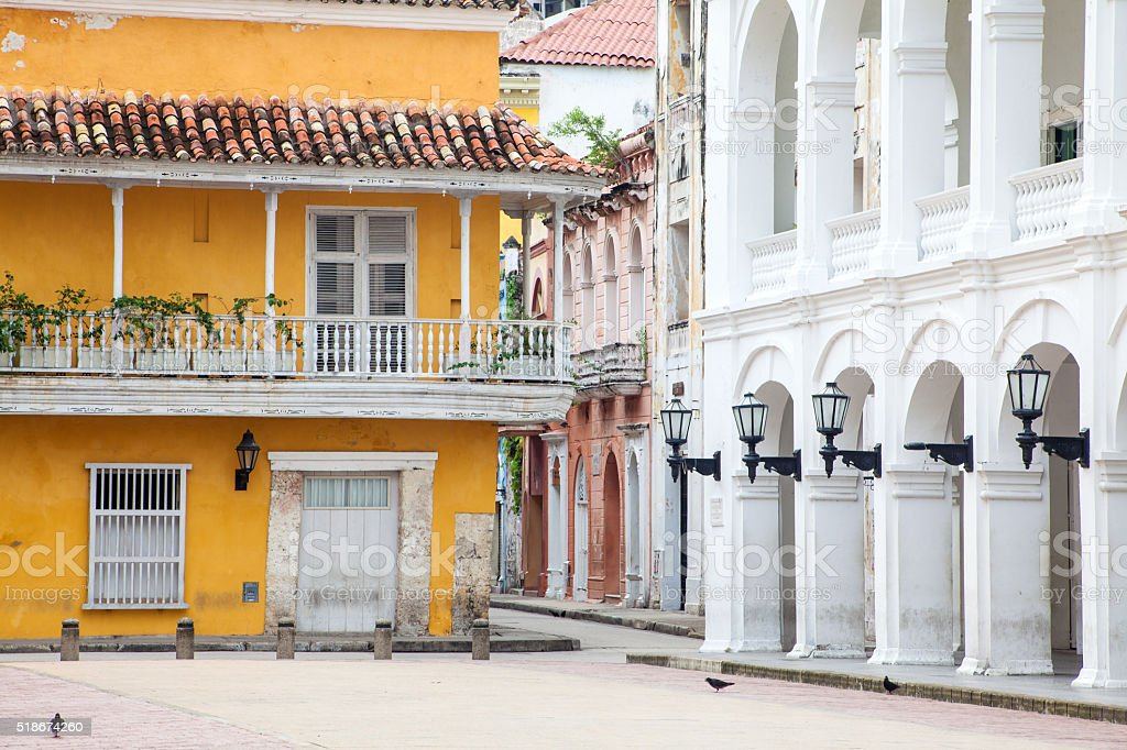 Corner at Cartagena de Indias stock photo
