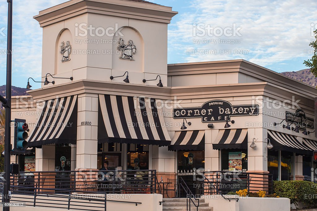 Corner bakery cafe in California stock photo