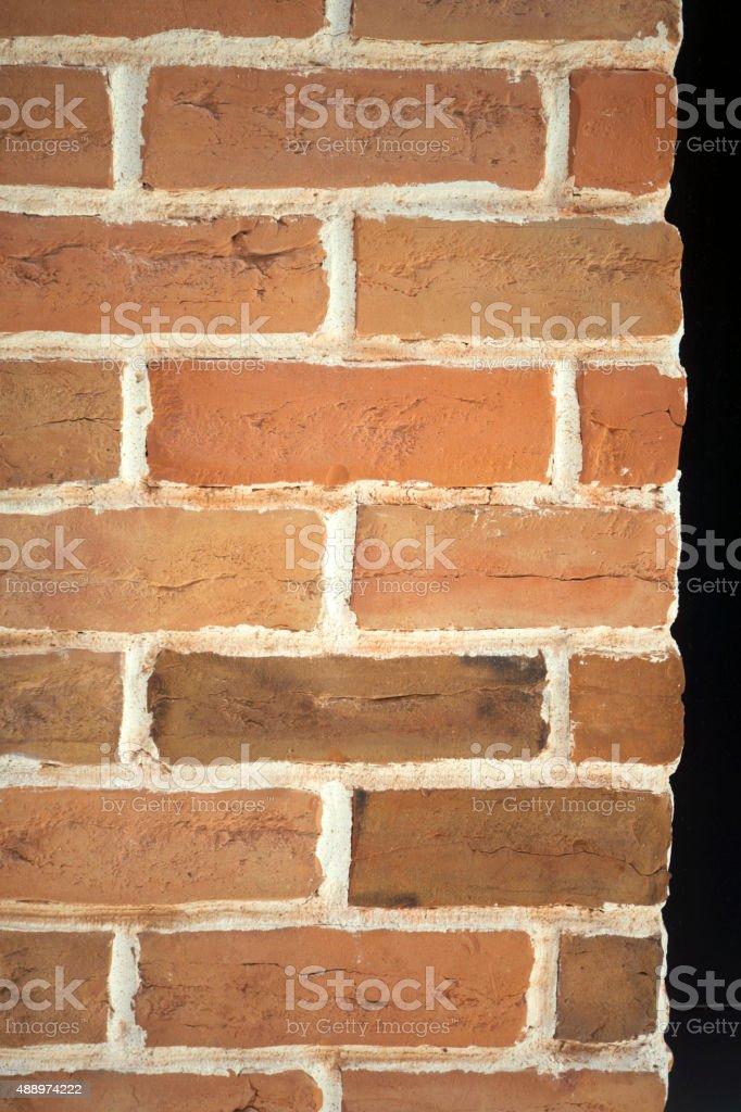 Corner brick wall stock photo
