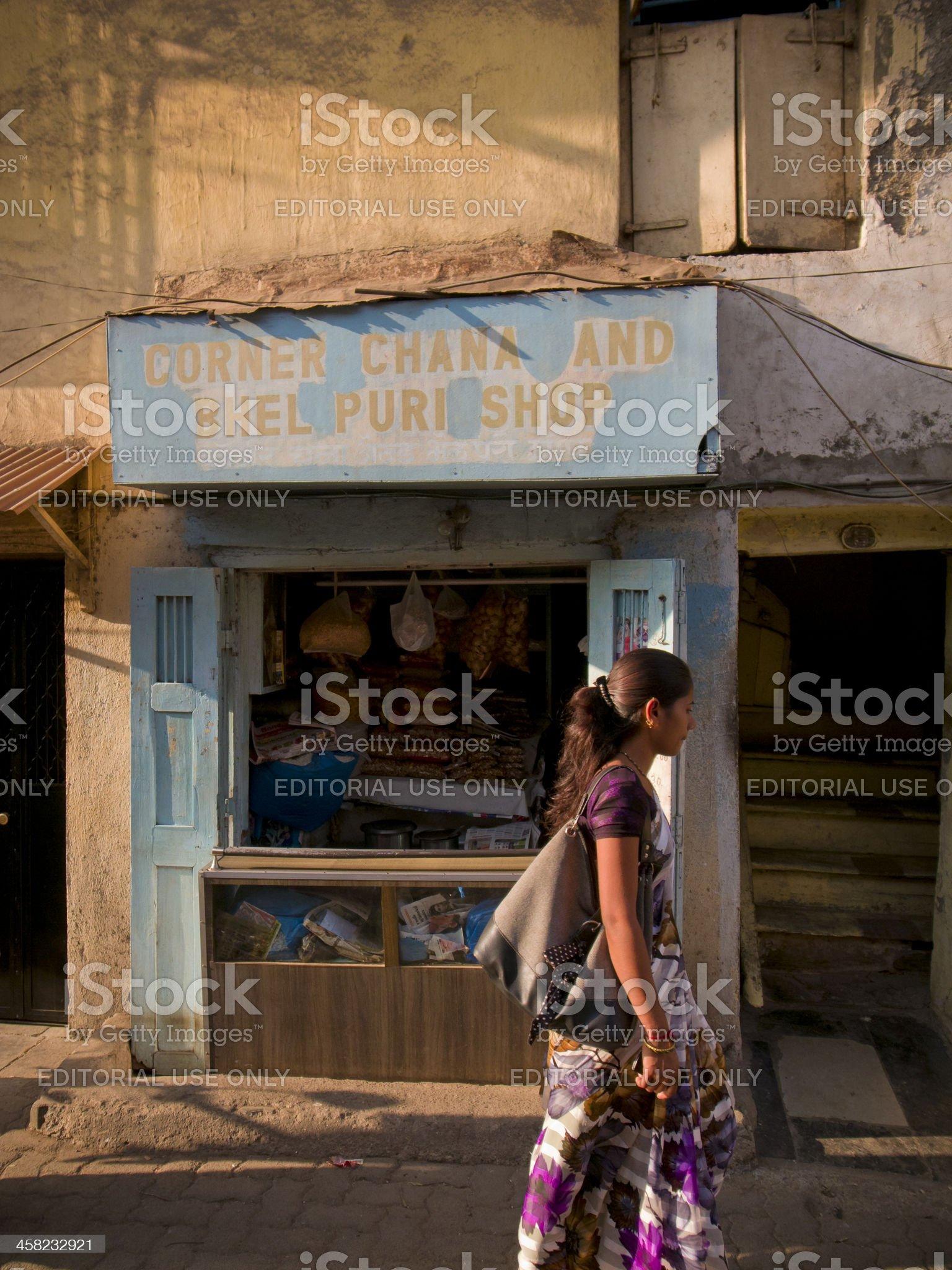 Corner Chana and Bhel Puri Shop royalty-free stock photo