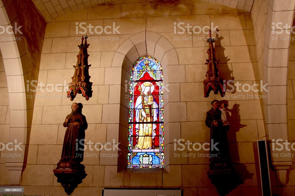 Corner Chapel In A Small French Church stock photo