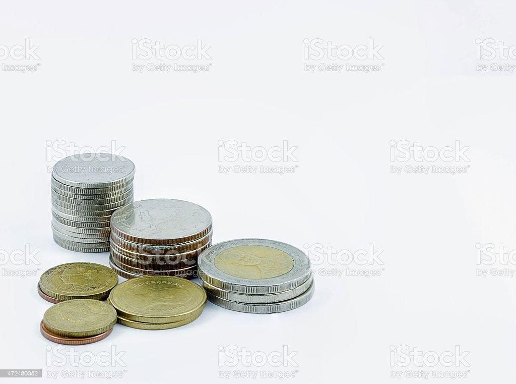 Eck-Münzen Lizenzfreies stock-foto