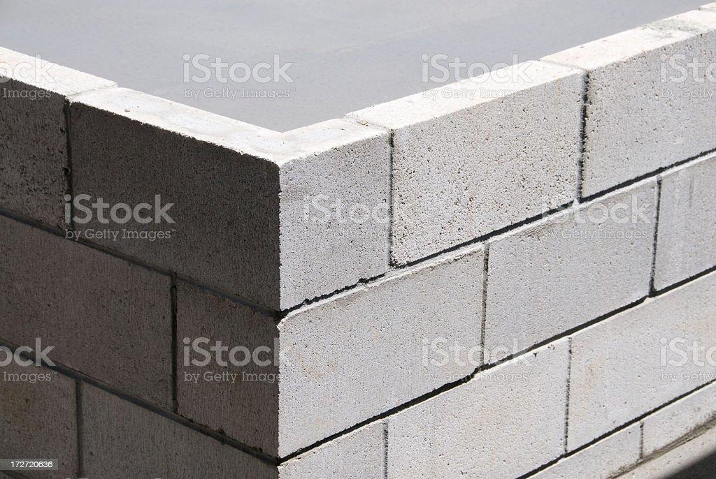 Corner Construction stock photo