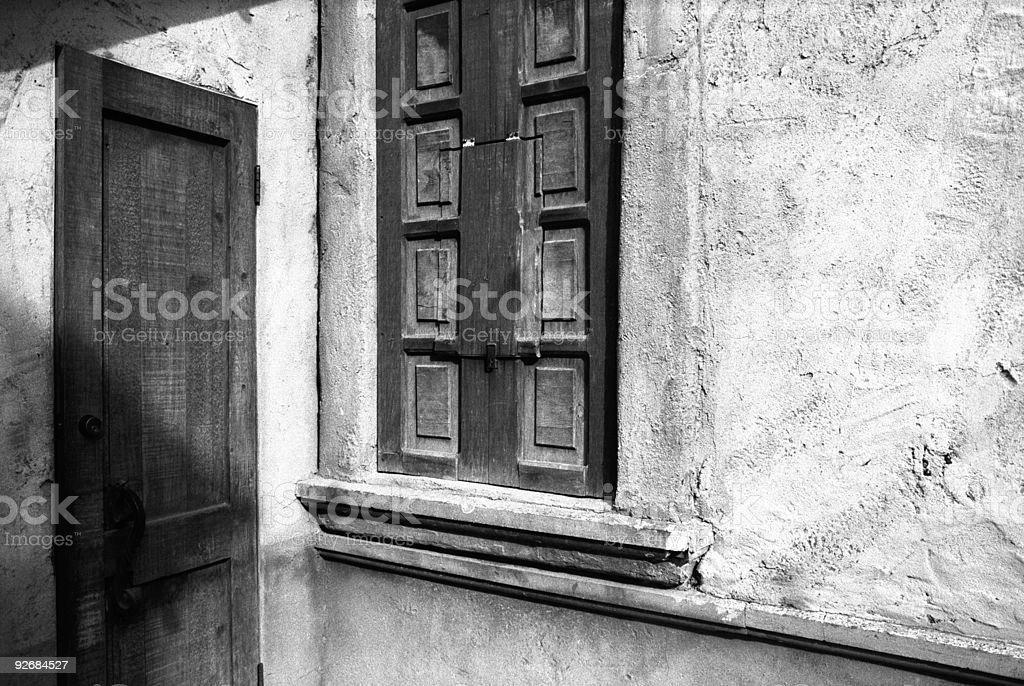 Corner Door and Window royalty-free stock photo