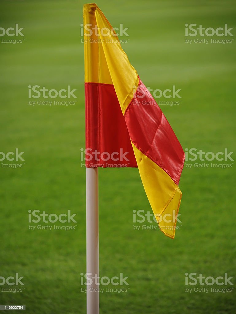 Corner flag stock photo