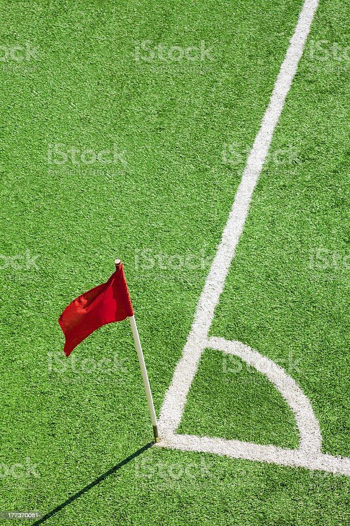 Corner flag royalty-free stock photo
