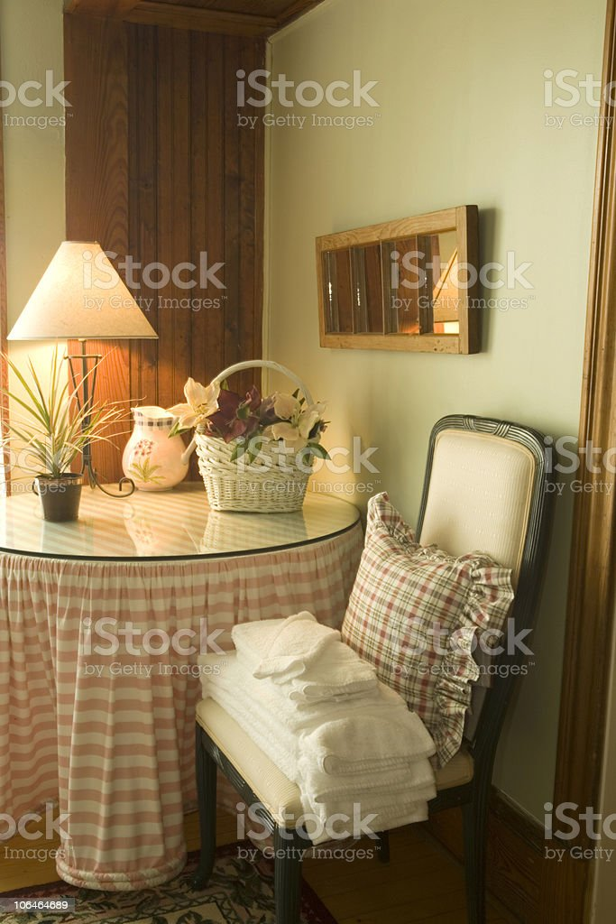Corner in the Bedroom royalty-free stock photo