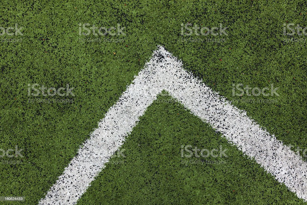 corner in the soccer field royalty-free stock photo