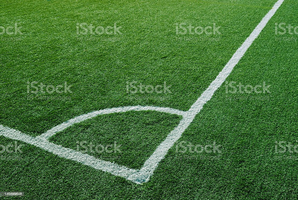 Corner Kick Area royalty-free stock photo