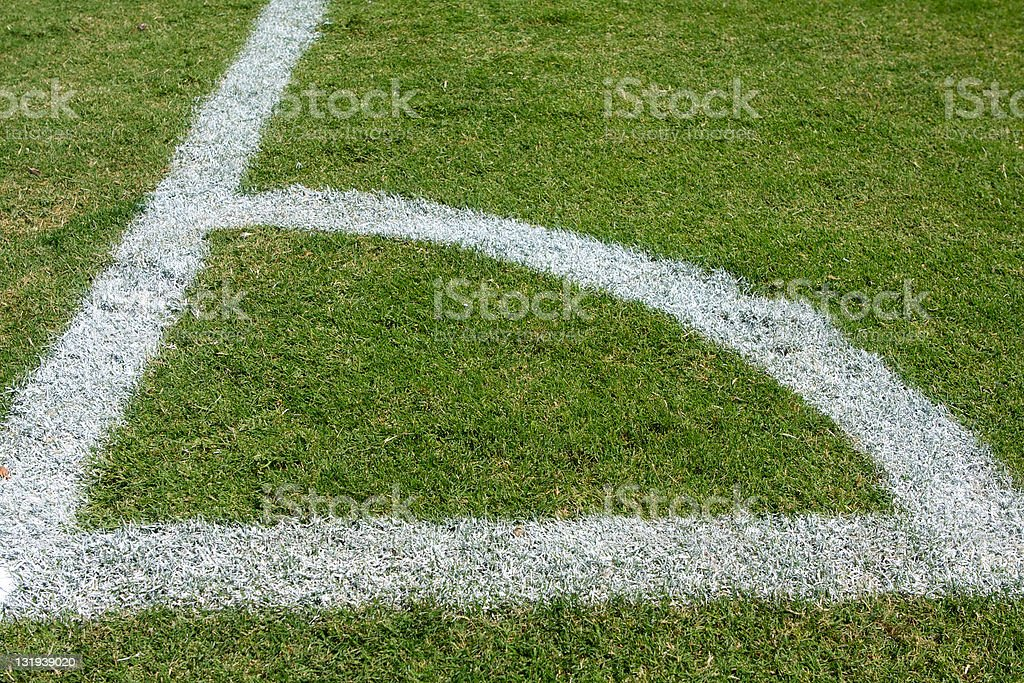 Corner Marker of a Soccer Field royalty-free stock photo