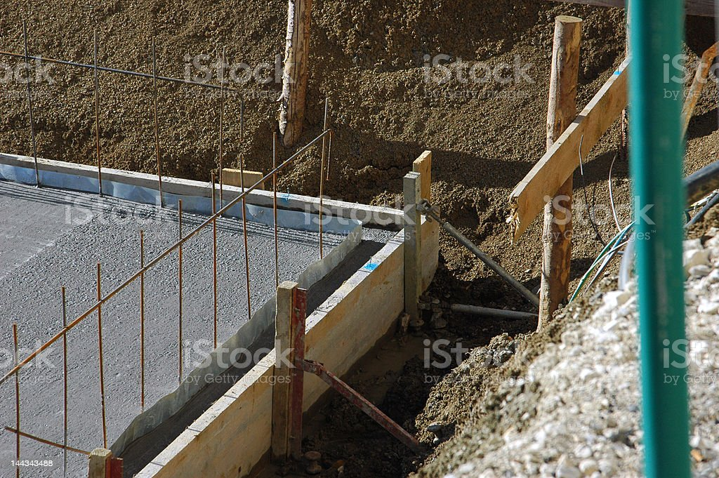corner of a baseplate construction stock photo