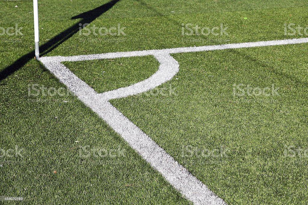Corner of a football field royalty-free stock photo
