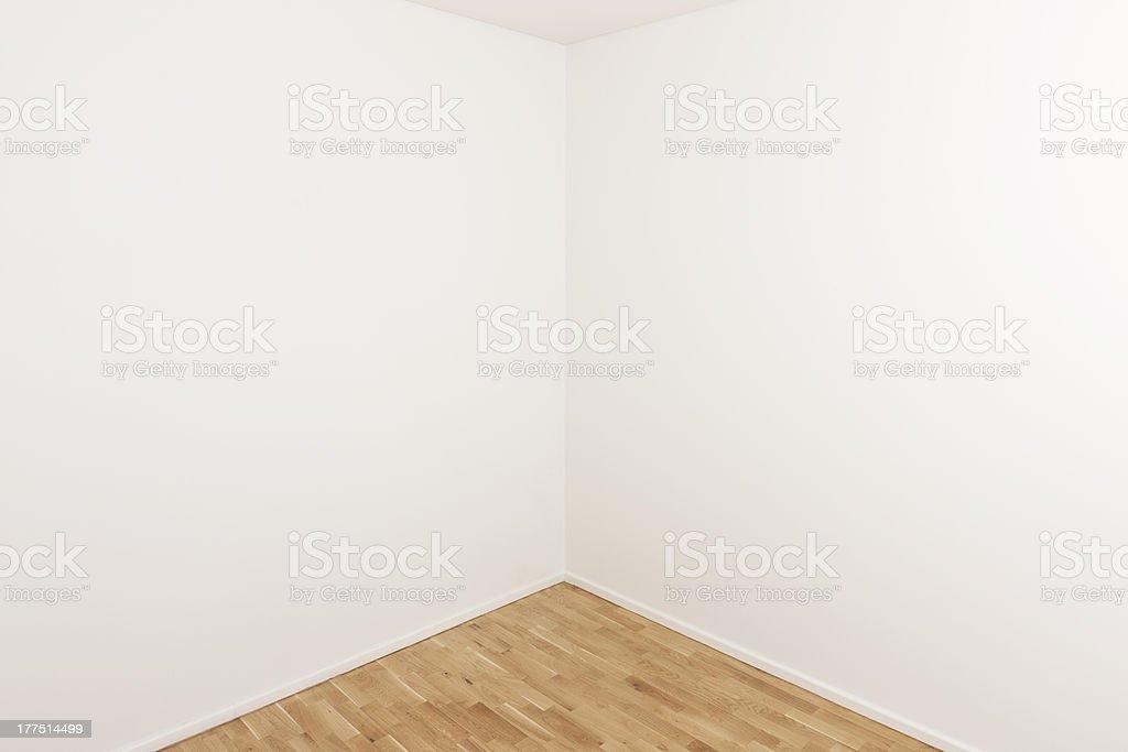 Corner of a room stock photo