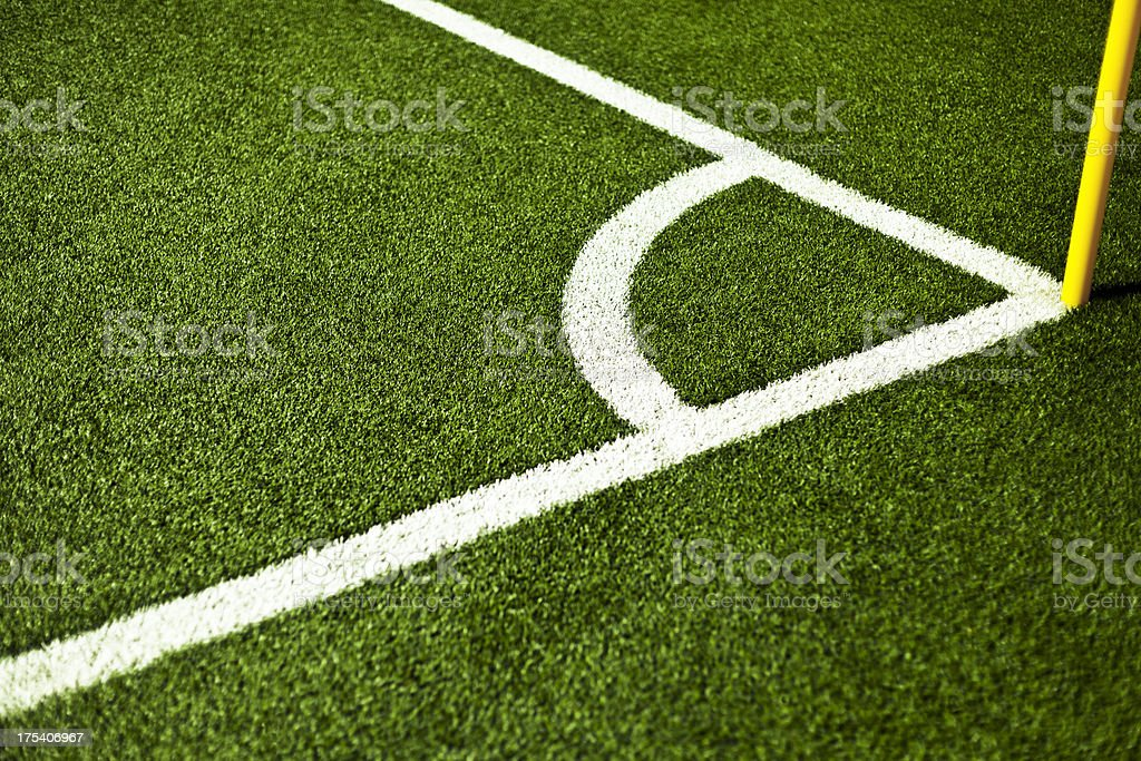 Corner of a Scoccer Field. stock photo