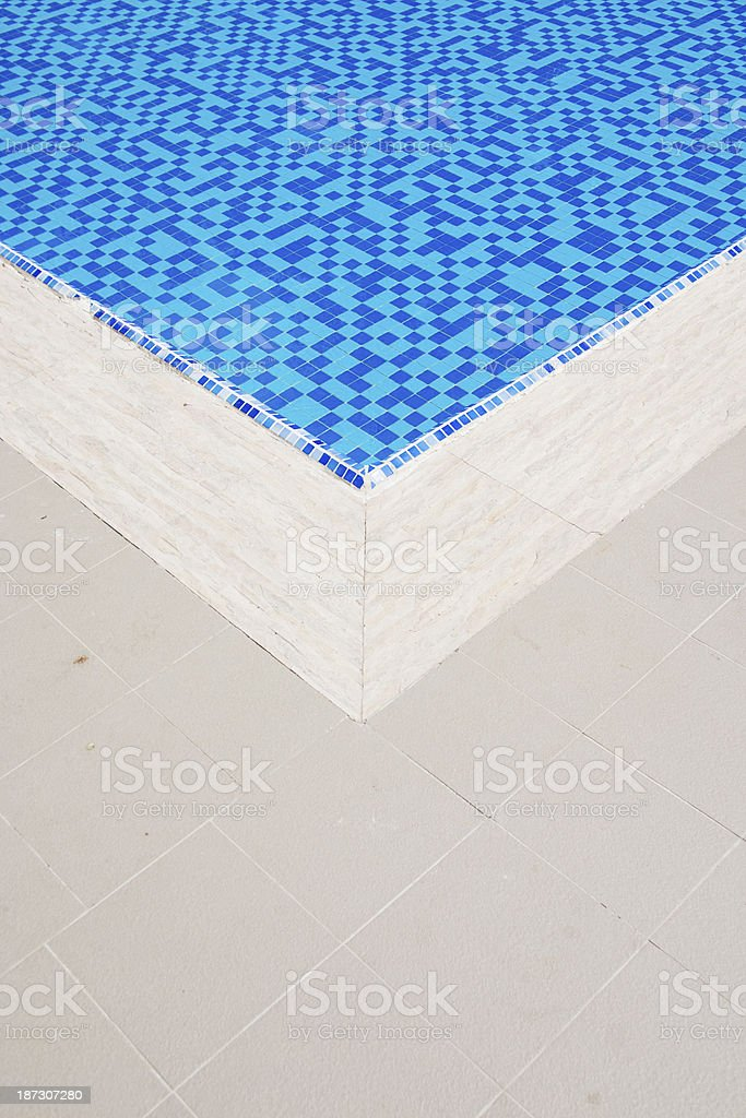 Corner of a swimming pool royalty-free stock photo