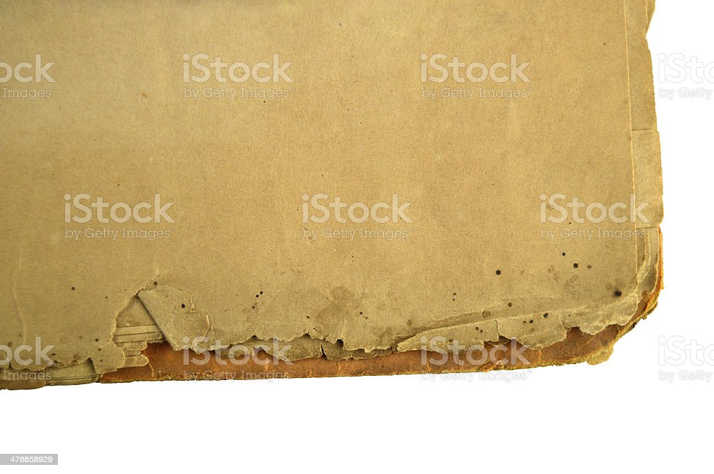 XXXL - Corner of an old file isolated over white royalty-free stock photo