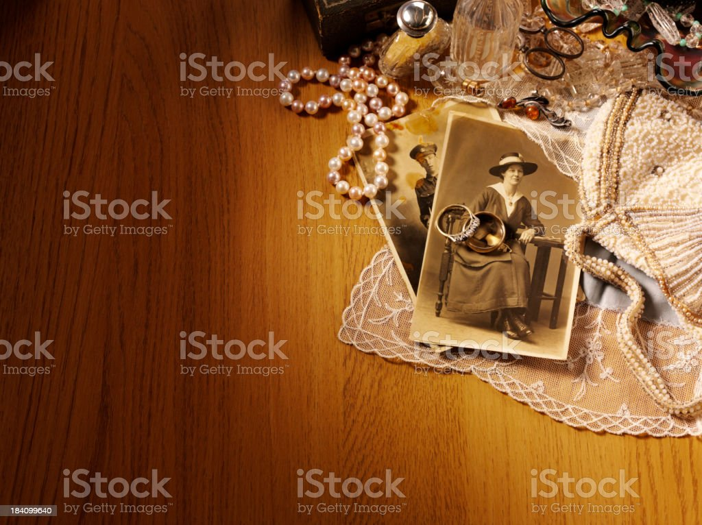 Corner of Antiques and Collectables royalty-free stock photo