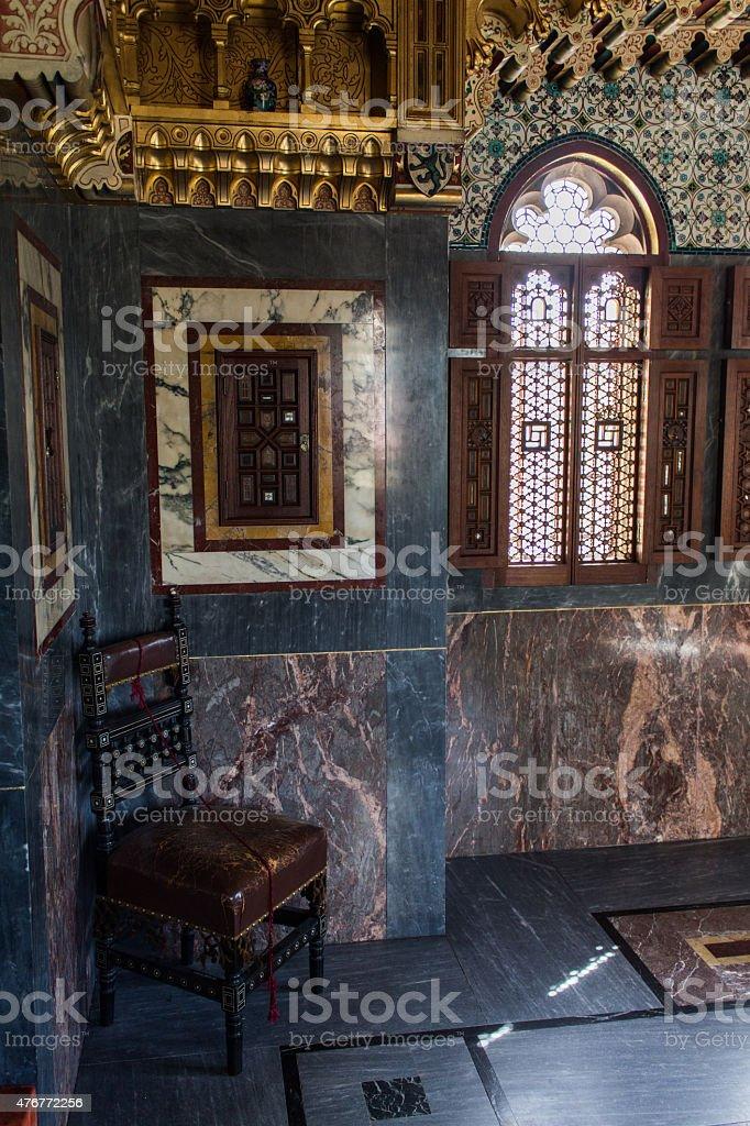 Corner of Arab Room (Cardiff Castle) stock photo