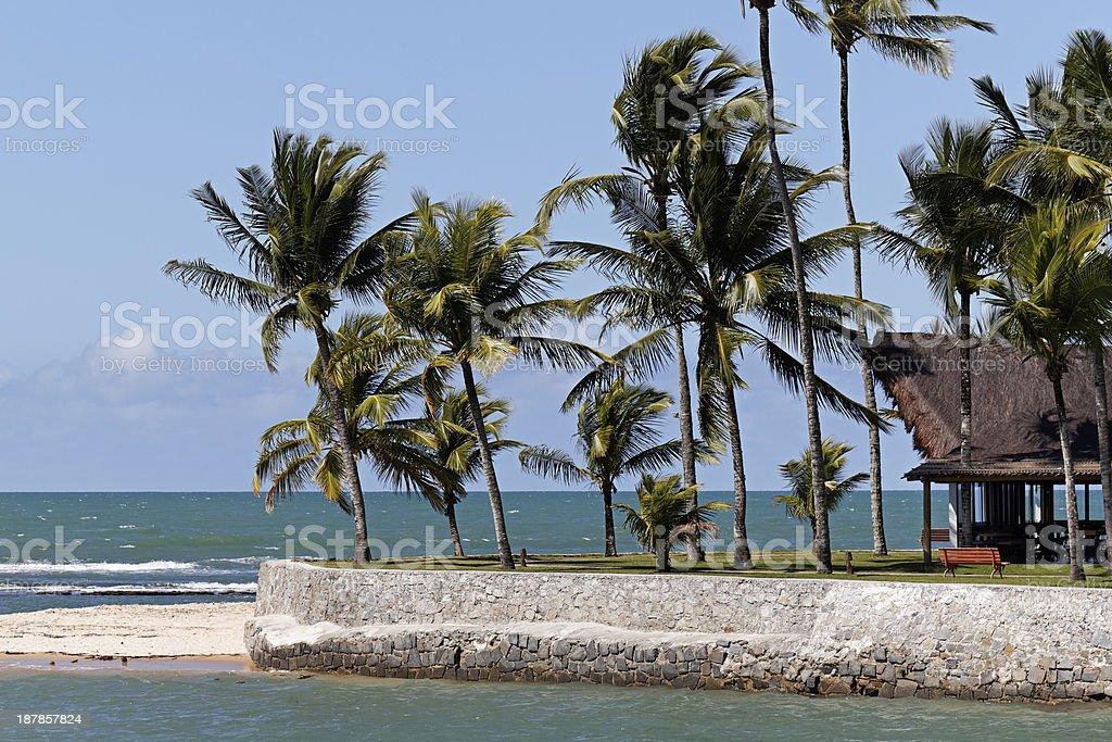 Corner of Arraial d'Ajuda Eco Resort in Bahia stock photo