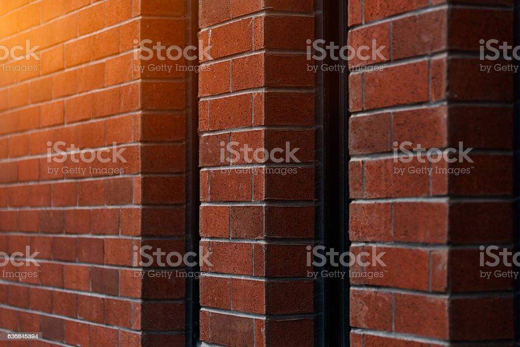 Corner Of Brick Wall stock photo