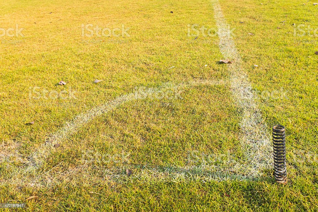 corner of football or soccer field royalty-free stock photo