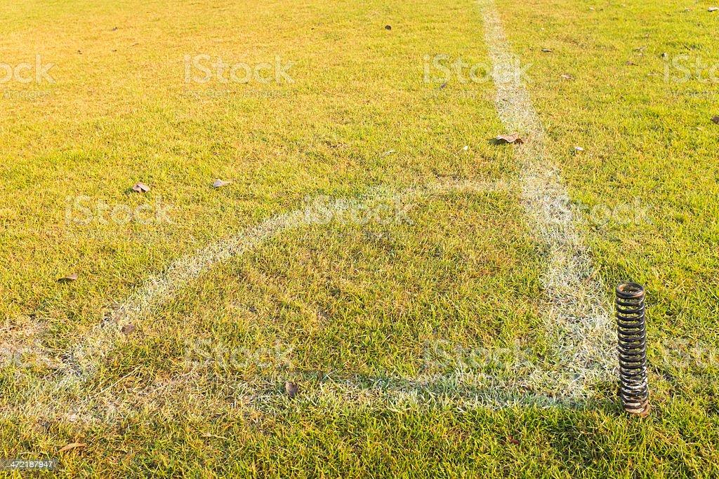 corner of football or soccer field stock photo