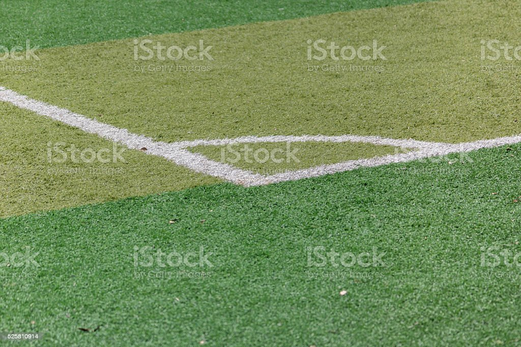 corner of football pitch stock photo