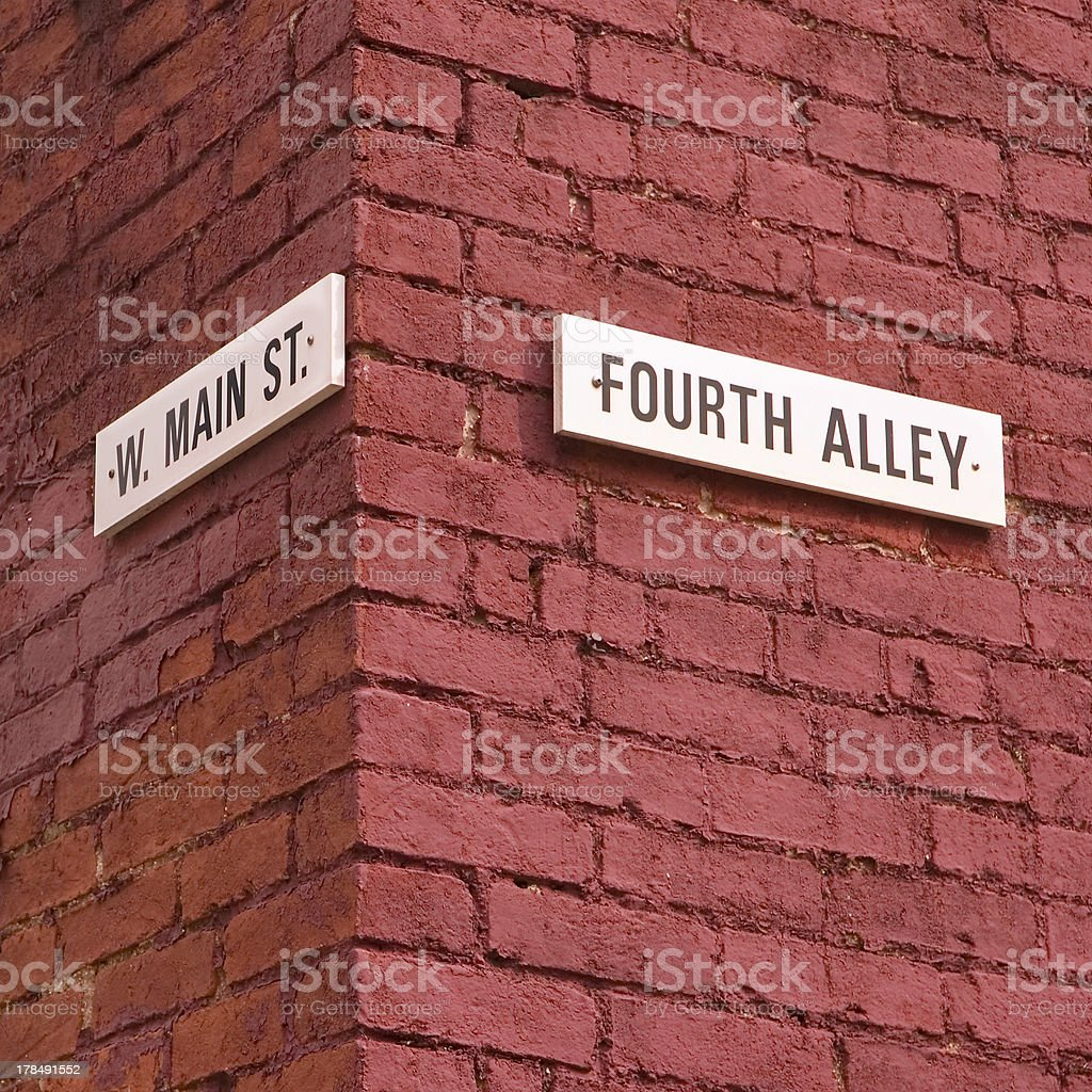 Corner of Fourth and Main royalty-free stock photo