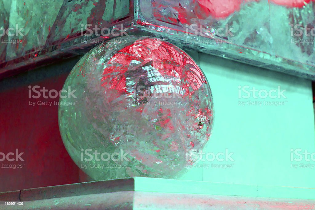 Corner of marble wall in bright colors stock photo